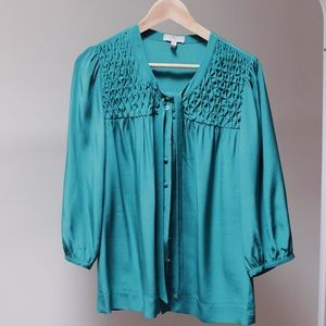 Joie Silky Emerald Blouse